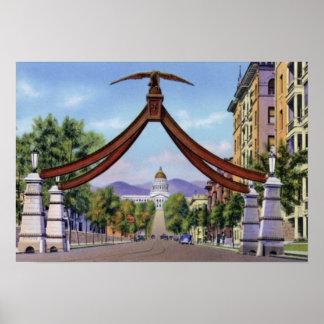 Salt Lake City Utah Eagle Gate Posters