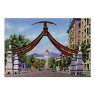 Salt Lake City Utah Eagle Gate Poster