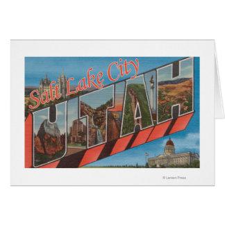 Salt Lake City, Utah - grandes scènes de lettre Carte De Vœux