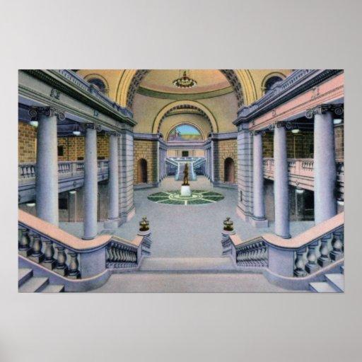 Salt Lake City Utah Inside State Capitol Posters