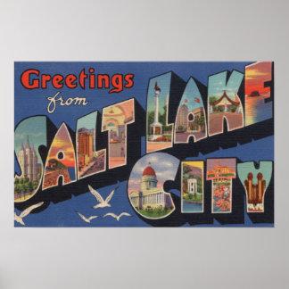Salt Lake City, Utah - Large Letter Scenes 2 Poster