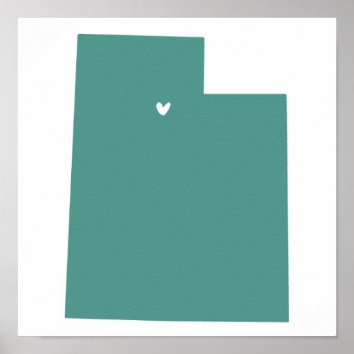 Salt Lake City, Utah Love Print