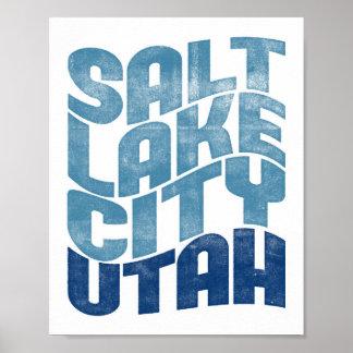 Salt Lake City Utah Poster State Art Print