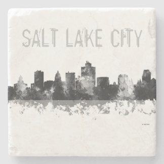 SALT LAKE CITY, UTAH SKYLINE - Stone Drinks Coaste Stone Coaster