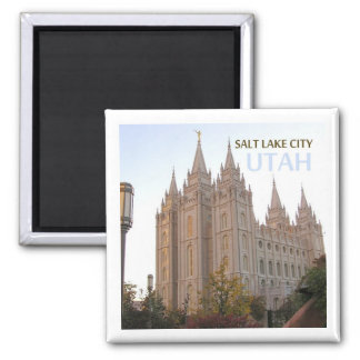 Salt Lake City Utah Travel Souvenir Fridge Magnet