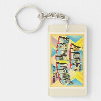 Salt Lake City Utah UT Old Vintage Travel Souvenir Double-Sided Rectangular Acrylic Keychain