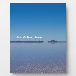 Salt Lake in Salar de Uyuni, Bolivia Display Plaque