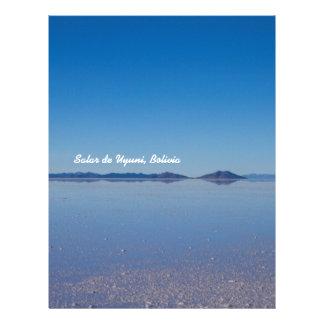 Salt Lake in Salar de Uyuni, Bolivia Letterhead