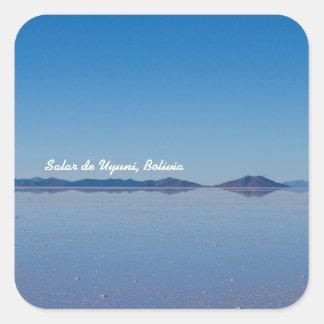 Salt Lake in Salar de Uyuni, Bolivia Square Sticker