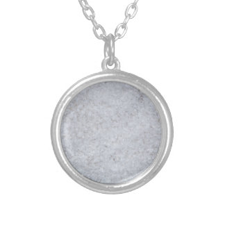 Salt macro as background structure silver plated necklace