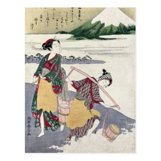 Salt Maidens on the Tago-no-ura Beach Postcard