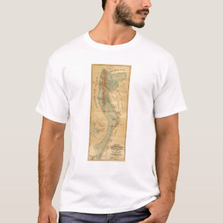 Salt marsh and tide lands map T-Shirt