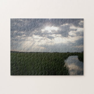 Salt Marsh Tybee Island Savannah Georgia Jigsaw Puzzle