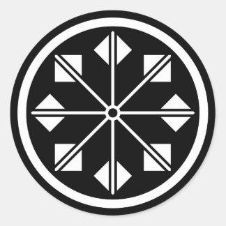 Salt name rice field pinwheel classic round sticker