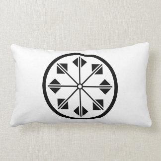 Salt name rice field pinwheel lumbar pillow