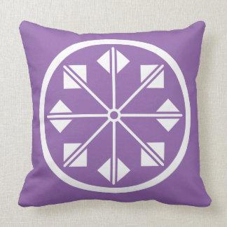 Salt name rice field pinwheel throw pillow