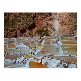 Salt Pans of Maras, Peru Postcard