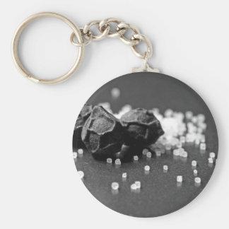 Salt Pepper Macro Image In Studio Basic Round Button Keychain