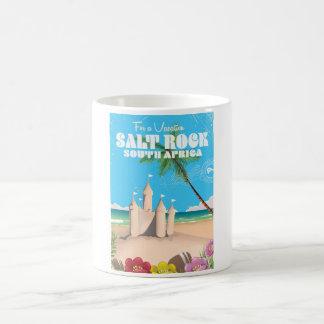 Salt Rock South Africa vintage travel poster Coffee Mug