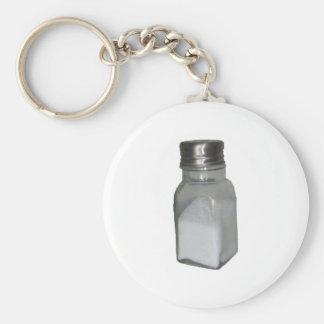 Salt Shaker Basic Round Button Keychain