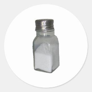 Salt Shaker Round Sticker