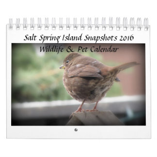 Salt Spring Island 2016 Wildlife & Pet Calendar