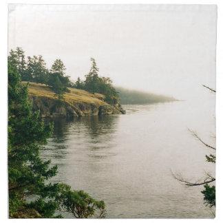 Salt Spring Island Oceanfront View Napkin