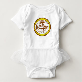 salt-water-barramundi-side-OVAL Baby Bodysuit
