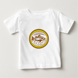 salt-water-barramundi-side-OVAL Baby T-Shirt