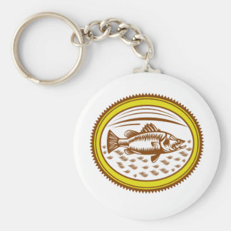 salt-water-barramundi-side-OVAL Keychain
