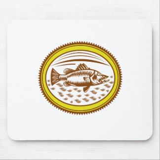 salt-water-barramundi-side-OVAL Mouse Pad