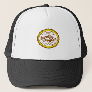 salt-water-barramundi-side-OVAL Trucker Hat