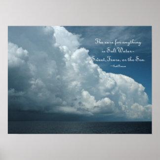 Salt Water Cure Ocean Poster