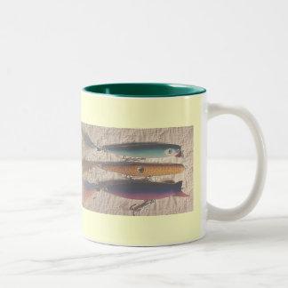 Salt Water Fishing Lures 11 Oz.Mug Two-Tone Coffee Mug