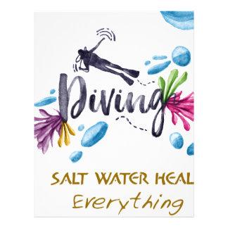 SALT WATER HEALS Everything Custom Letterhead
