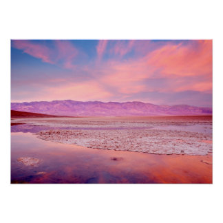 Salt Water Lake Death Valley Poster
