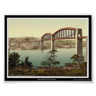 Saltash Bridge, Plymouth, England Poster