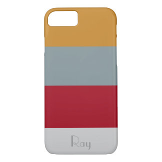 Salted Toffee Chery Stripe Customize Name Case-Mate iPhone Case