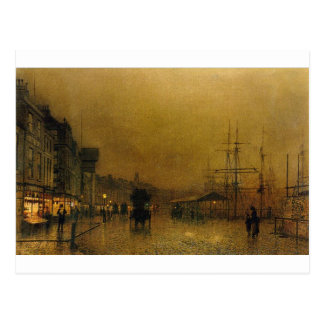 Salthouse Dock, Liverpool John Atkinson Grimshaw Postcard