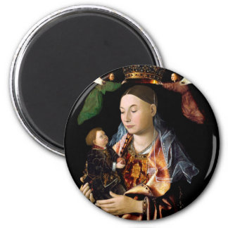 Salting Madonna and Christ Child 2 Inch Round Magnet