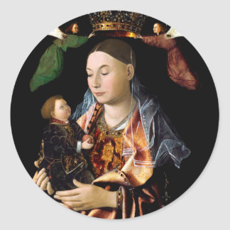 Salting Madonna and Christ Child Round Sticker