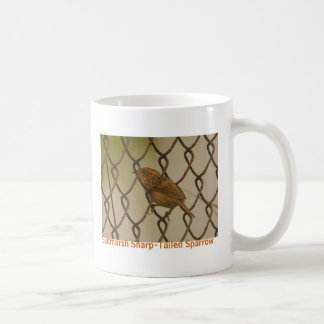 Saltmarsh Sharp-Tailed Sparrow fence 2, Birdwat... Coffee Mug