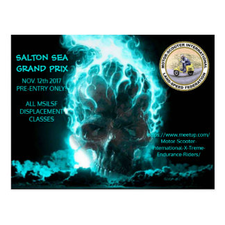 SALTON SEA GRAND PRIX POSTCARD