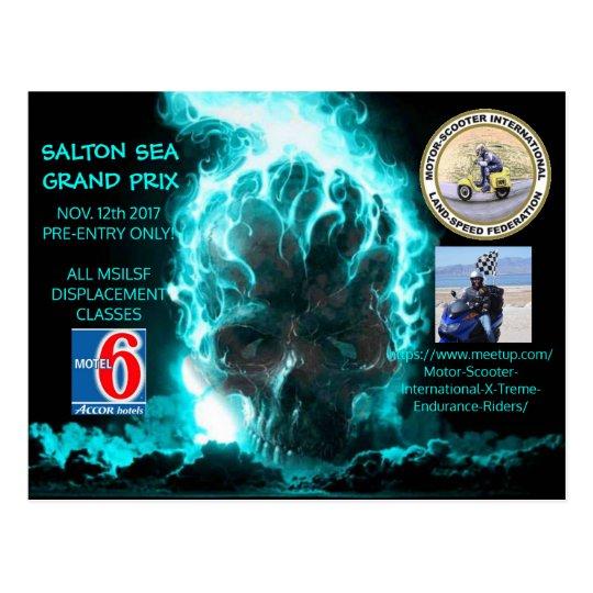 SALTON SEA GRAND PRIX POSTCARD