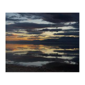 Salton Sea Sunset Acrylic Wall Art