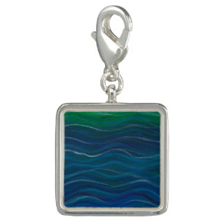 Saltwater Acrylic Painting Charm for Bracelet