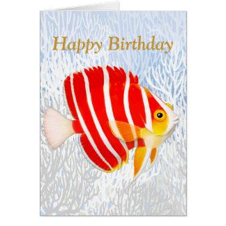 Saltwater Aquarium Fish Happy Birthday Card