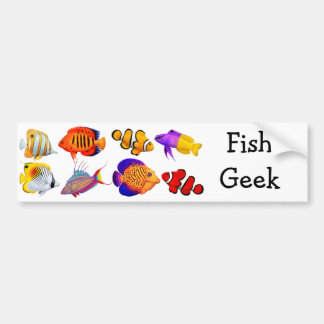 Saltwater Fish Geek Bumper Sticker
