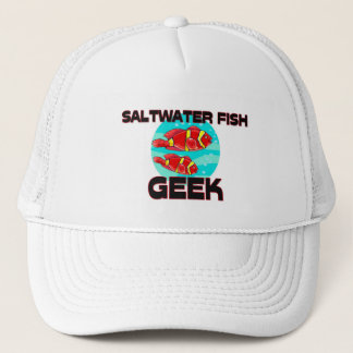 Saltwater Fish Geek Trucker Hat