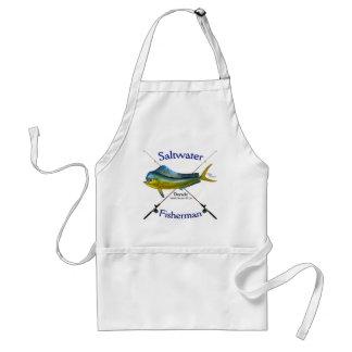 Saltwater fisherman Dorado Mahi Mahi apron